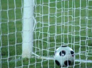 footbal in goal