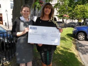 JDRF's Catriona Morrice with Karen Reid from The cHeRries Awards