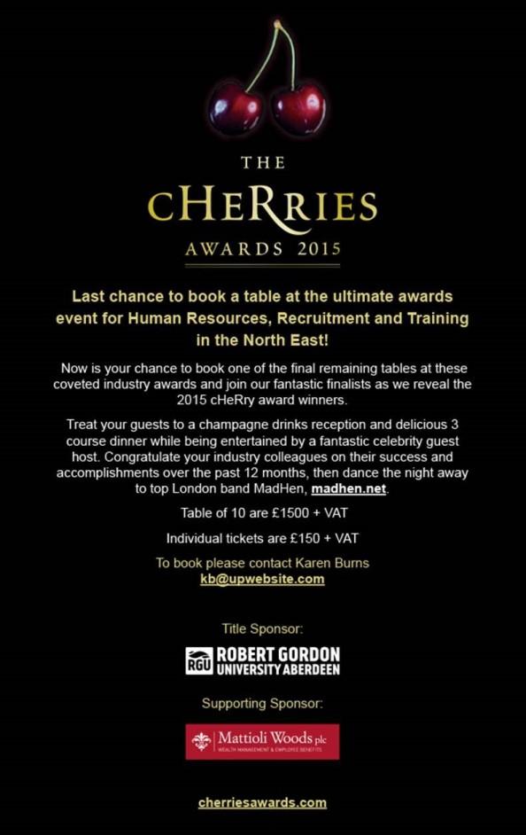 cHeRries Awards 2015